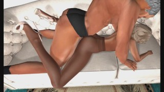 Hot Pantyhose MILF Doggy Style on the Couch