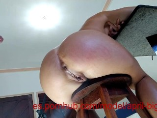 Creampie anal in chair , massice cum explotion -aprilbigass-