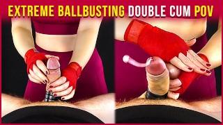 Extreme Ballbusting Double Cum - Femdom Handjob | Era