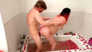 Kitty's Valentines day rose petal bath