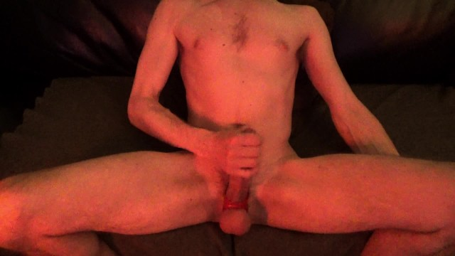 Hot Guy Whispers & quietly strokes his rock hard cock until an extremely intense minute long Orgasm!