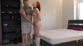 Cathy Crown - after, she will be taken by Master/Husband