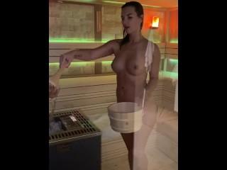 Jenifer jane in Sauna ritual