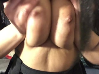 Massaging My Tits With Oil, And Squeezing My Nipples!