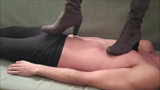 Trampling with Beautiful High Heels Boots