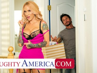 Naughty America - Sarah Jessie is on the hunt for a big cock this Black Friday