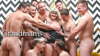 Granny Gets the Cock Fest Started!