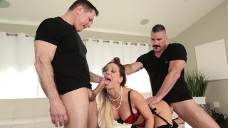 BANGBROS - Sexy MILF Cherie Deville Double Penetration From John Strong And Charles Dera