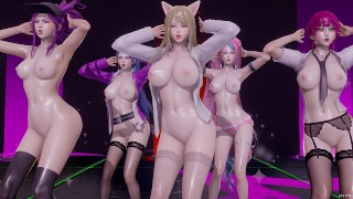 [MMD] CHUNG HA - Snapping Strip Vers. Ahri Akali Kaisa Evelynn Seraphine KDA 3D Erotic Dance
