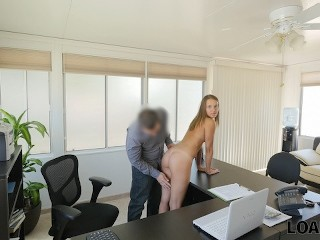 LOAN4K. Naive girl thinks that she can get a huge debt without sex