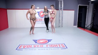 Nude Lesbian Wrestling As Tori Avano Fights Jenna Noelle Tieing Her Up To Strapon Fuck Her