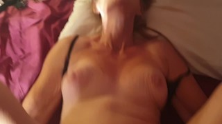 POV Mature Climax - Stepmom boobs bouncing being fucked to Orgasm climax