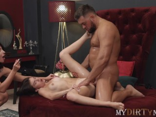 MyDirtyNovels – Shy Cutie Tries Hot Sex With A Couple