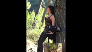 Jeweln_22 Challenge - French slut sucks, gets fucked, banged by strangers in forest, facial