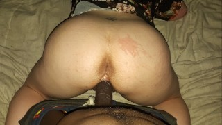 Miss British Fat Pussy cums on black cock Amateur Young Couple 2021