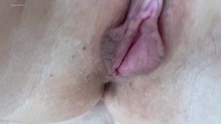 Extreme Close up Teasing Tight Pussy and Clit - 4K