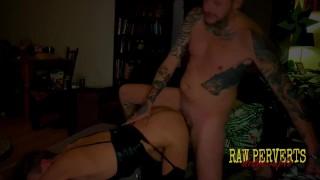 Nasty amateurs making raw porn