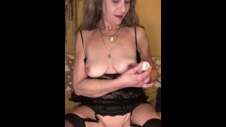 Hot Mature MILF Vacuum Big Nipples & Wet Pussy Stretched To Squirting Orgasm