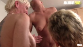 XXXOmas - Huge Tits German Grannies Wild Foursome Sex With Old Guy