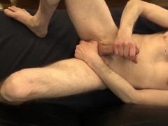 Hot Guy jerks off, moans, & doesdirty talk until a 2 min toe curling full body orgasm!!!