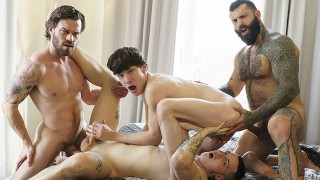Naughty Teens Harvey Sin And Edward Terrant Need stepdads' Attention