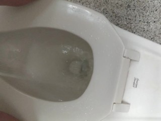 First Time Standing To Piss In Public Restroom (Made A Mess!)