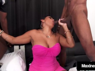 Hot Busty Wife Maxine X Orgasms In Nice Wet BBC Gang Bang!