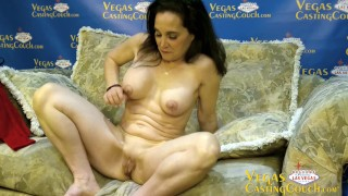 Kelly - MILF Casting First Time On Camera Does Deep Anal POV Oral Deep Throat Solo Masturbation