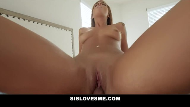 SisLovesMe - Messing With Step Sis And My Cock Slips In!