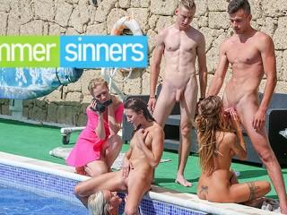 Wild Pool Orgy