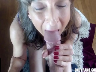 Sexy Granny Gets Her Mouth Filled With Cum