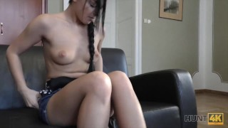 HUNT4K. Sweet chick gets fucked in multiple positions for money
