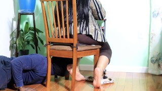 Preview Sneaky Foot Perv Caught Sniffing Curvy Librarian's Meaty Soles