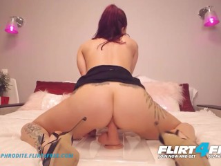 Adele Aphrodite on Flirt4Free - Sexy Hard Bodied Cam Girl in Heels Jams Big Dildo in Her Tight Pussy