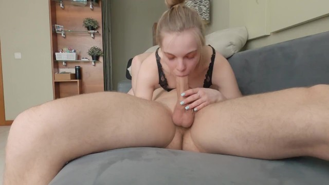 stepsister was getting ready for a date, but I didn't let her in and made me suck