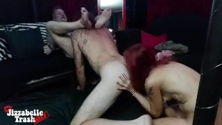Throuple Lust - Bi MMF blowjob + Ass Eating