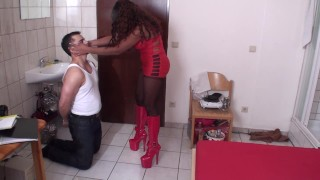 black lucy slap her white pussy slave richie
