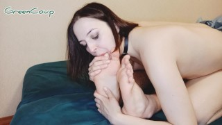Home whore loves to lick his legs