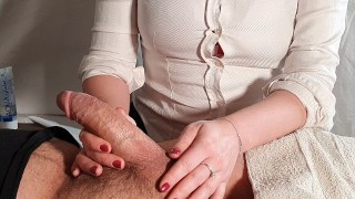 Medical examination with happy ending