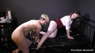 Lesbian Sub Worships Her Domme