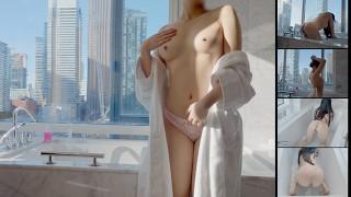Loliiiiipop99 - Sexy Asian Double Penetration in Bath