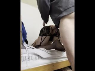Daddy fucks his sissy boy in stockings