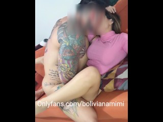 Wanna see him fucking me hard with his big fat cock?... onlyfans: bolivianamimi