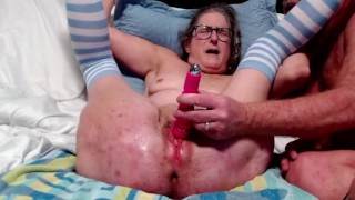Mature Husband Ties Up Wife And Make Her Squirm Toying Wet Pussy Spread Wide