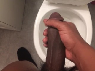 Jacking Off my Black Cock before Work