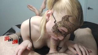 Cute dick sucking. Hot blonde suck big dick with love. Sexy girl suck big cock. 1080HD, 60FPS.