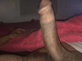 Stroking my Big Black Dick Late Night