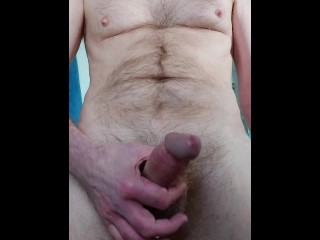 My cock was aching again so had a nice edging wank and tasted my dripping precum