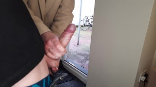 Public Masturbation. Stranger girl caught me jerking off and flashing my dick and helped me cum.