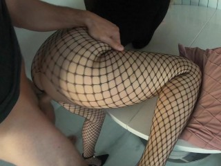 Rough Sex on Table with Unexpected Anal gives her Screaming Orgasm